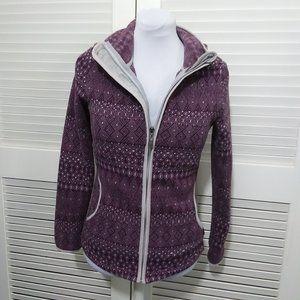 Prana Long Sleeve Purple Fleece Hoodie Sz Sm